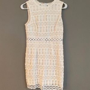 Lulus White Crochet Lace Dress Size Small